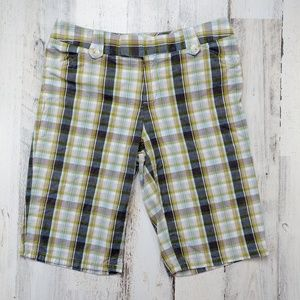 🌿 Banana Republic Martin Fit Plaid Bermuda Shorts